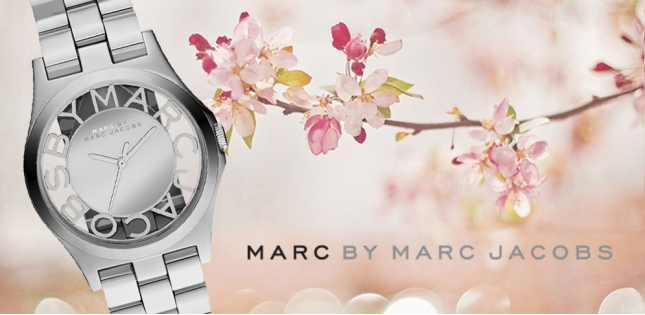 Marc by Marc Jacobs Ladies Silver Henry Skelett Watch