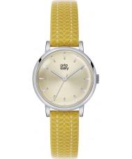 Orla Kiely OK2027 Damer patricia stam tryck gul läderrem watch