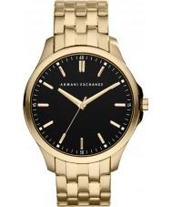 Armani Exchange AX2145 För män svart guldpläterad armband klänning klocka