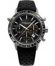 Raymond Weil 7740-SC1-20021 Mens frilansare svart läder chronographklockan