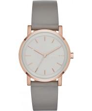 DKNY NY2341 Damer soho grå läderrem watch