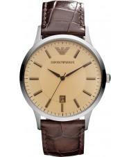 Emporio Armani AR2427 Mens klassiska bärnsten brun klocka