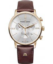 Maurice Lacroix EL1098-PVP01-111-1 Mens Eliros brunt läder chronographklockan