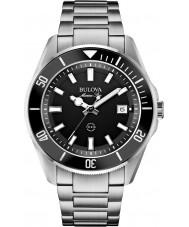 Bulova 98B203 Mens marina stjärna silver stål armband klocka