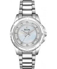 Bulova 96S144 Damer diamant silver stål armband klocka