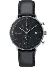 Junghans 027-4601-00 Max bill svart Chrono automatisk klocka