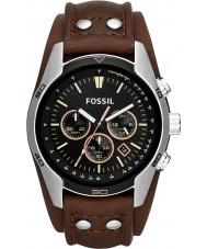 Fossil CH2891 Mens kusk svart brun chronographklockan