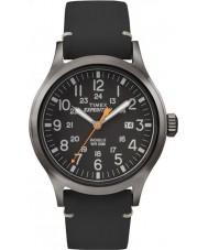 Timex TW4B01900 Mens expedition analog förhöjda svart läderrem klocka