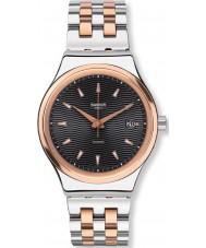 Swatch YIS405G Sistem tux två ton stål armband klocka
