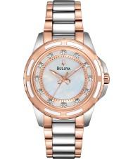 Bulova 98S134 Damer diamant två ton stål armband klocka