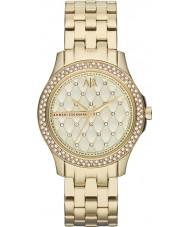Armani Exchange AX5216 Damer guldpläterad armband klänning klocka