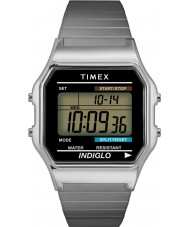 Timex T78587 Mens silver klassisk digital chronographklockan
