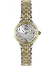 Rotary LB02761-41 Damer tidmätare silver och guld klocka