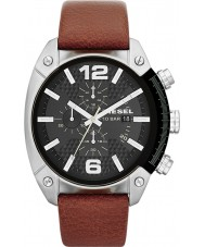 Diesel DZ4296 Man overflow kronograf tan läderrem watch