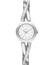 DKNY NY2173 Damer övergångsställe silver sten set klocka