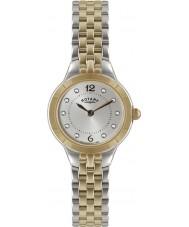 Rotary LB02762-59 Damer klockor silver och ökade guld klocka