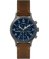 Timex TW4B09000 Mens expedition brunt läder Strap Watch