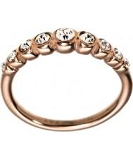 Edblad 2153441919-S Damer valens ökade guldpläterad linje ring - storlek n (s)