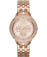 Armani Exchange AX5406 Damer ros guldpläterad armband klänning klocka