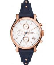 Fossil ES3838 Damer ursprungliga pojkvän blå chronographklockan