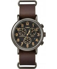 Timex TW2P85400 Weeke brunt läder chronographklockan