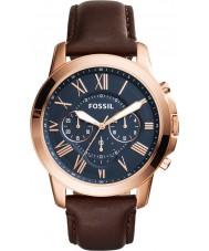 Fossil FS5068 Mens bevilja brun chronographklockan
