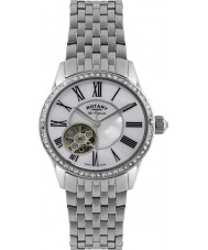 Rotary LB90510-41 Damer les origin automatisk silver klocka