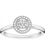 Thomas Sabo D-TR0008-725-14-54 Damer glam och själ 925 sterling silver diamantring - storlek o (EU 54)