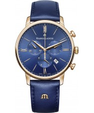 Maurice Lacroix EL1098-PVP01-411-1 Mens Eliros blå läderrem chronographklockan