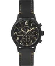 Timex TW4B09100 Mens expedition svart läderrem klocka