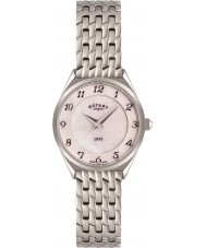 Rotary LB08000-18 Damer ultratunn silver ton stål watch