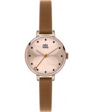 Orla Kiely OK2034 Damer murgröna tan läderrem watch