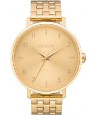Nixon A1090-502 Damer arrow allt guld stål armband klocka