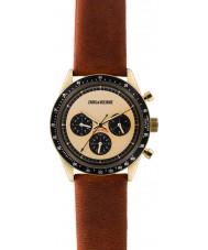 Zadig and Voltaire ZVM116 Mästaren brunt läder chronographklockan