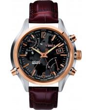 Timex T2N942 Mens brun världstid klocka