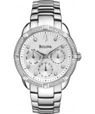 Bulova 96R195 Damer diamant silver stål armband chronographklockan