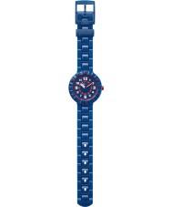 Flik Flak FCSP040 Pojkar allvarligt marinblå silikonband klocka