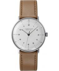 Junghans 027-3701-00 Max bill tan brun handwinding mekanisk klocka