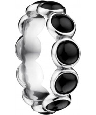 Bering Time Dam svart keramisk bubbla ringen