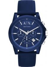 Armani Exchange AX1327 Sport blå silikon chronographklockan