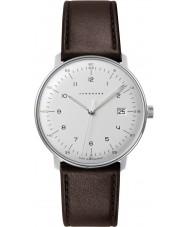 Junghans 041-4461-00 Max Bill brunt läder Strap Watch