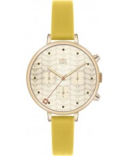 Orla Kiely OK2038 Damer murgröna guld kronograf gul läderrem watch