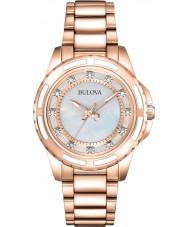 Bulova 98S141 Damer ros guldpläterad armband klocka