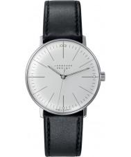 Junghans 027-3700-00 Max bill svart handwinding mekanisk klocka