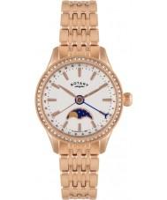 Rotary LB02854-01 Damer klockor Beaumont månfas ökade guld klocka