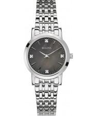 Bulova 96S148 Damer diamant galleri silver stål armband klocka