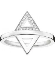 Thomas Sabo D-TR0019-725-14-54 Damer glam och själ 925 sterling silver diamantring - storlek o (EU 54)