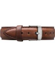 Daniel Wellington DW00200052 Damer klassiska St Mawes 36mm silver brunt läder extra rem