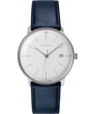 Junghans 041-4464-00 Max Bill blå läderrem klocka