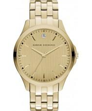 Armani Exchange AX2167 Män klänning guldpläterad armband klocka